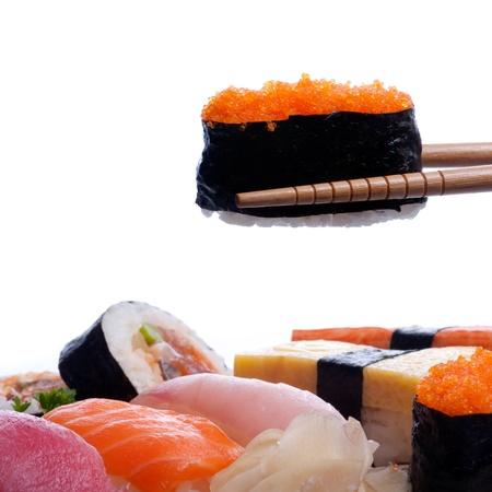 crusted: sushi  Traditional Japanese food Sushi