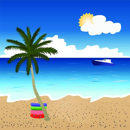 Beautiful beach landscape Stock Vector - 16733534