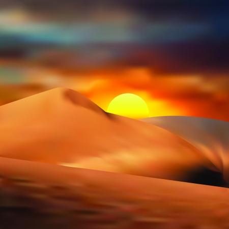 uncultivated: sand desert Illustration