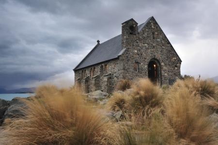 good shepherd: Church of the Good Shepherd, Lake Tekapo, New Zealand Stock Photo