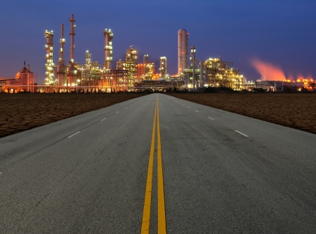 catalytic: road to petrochemical Stock Photo