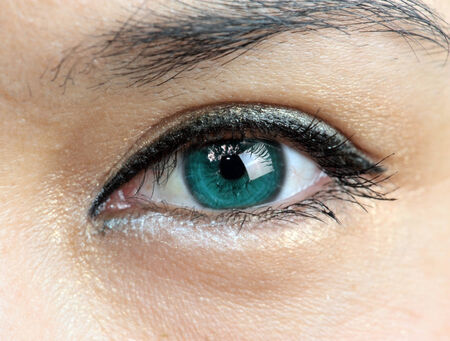 cornea: Close-up of a  womans green eye