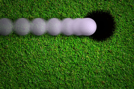 Hole in one shot Stock Photo