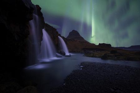 The landscape kirkjufell mountain on west of Iceland photo