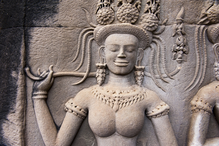 khmer: An Apsara is a female spirit of the clouds and waters