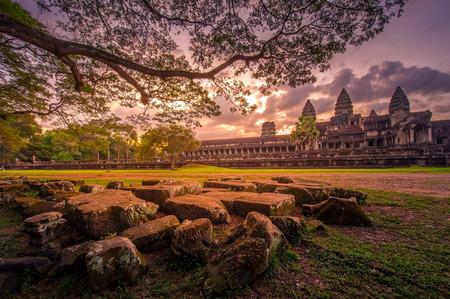 앙코르 와트 사원은 캄보디아 스톡 콘텐츠