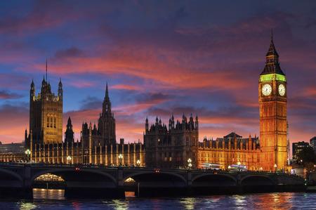 Big Ben Clock Tower Against Blue Sky England United Kingdom Stock Photo