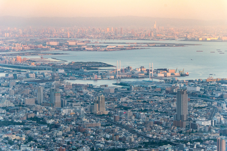 inland: Kobe dollar view cityscape at daytime Stock Photo