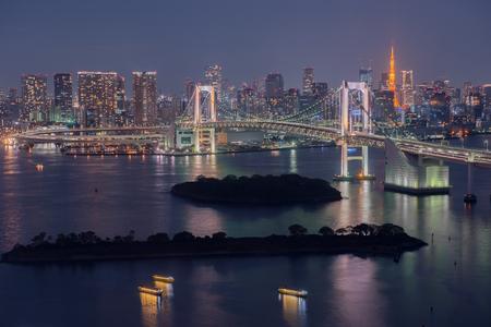 rainbow bridge: Tokyo Bay at Rainbow Bridge, Japan