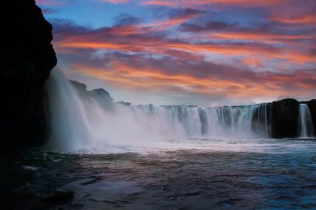 scandinavian peninsula: Godafoss waterfall Northern Iceland