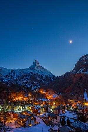 zermatt: Matterhorn peak, Zermatt, Switzerland. Stock Photo