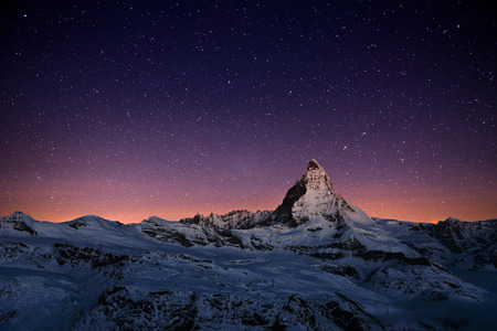 Matterhorn peak, Zermatt, Switzerland. Banque d'images
