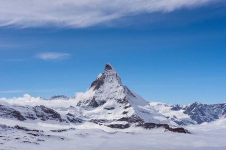 Matterhorn peak, Zermatt, Switzerland. 版權商用圖片