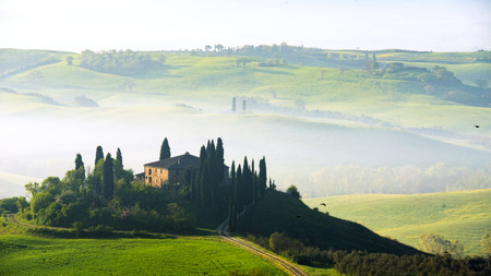 In the middle of the gorge Tuscany Stock Photo