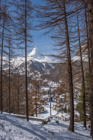 matterhorn: Matterhorn peak, Zermatt, Switzerland. Stock Photo