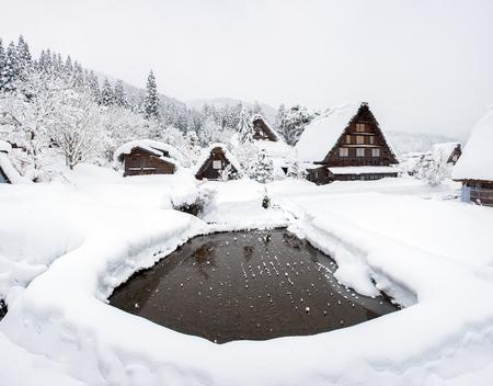 Historic Village of Shirakawago in winter
