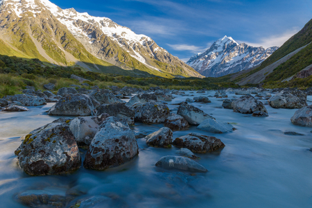 landscape of mt.cook national park, New Zealand, South Island