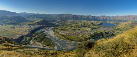 Mountains and Valleys of New Zealand, take photo from remarkable view point