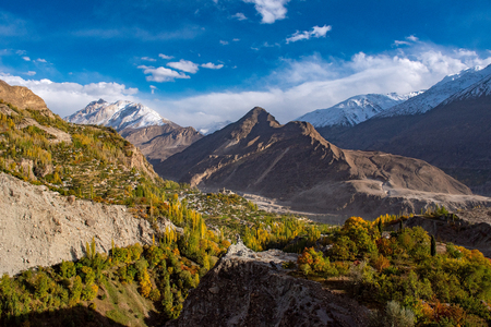 Autumn at Hunza Valley. Northern Area Pakistan