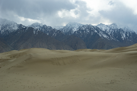 Sand desert at skardu. Northern Area Pakistan Stock Photo