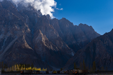 Autumn season at Passu Valley. Northern Area Pakistan