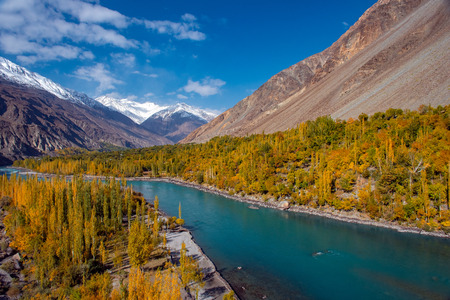 Autumn at Ghizer Valley. Northern Area Pakistan