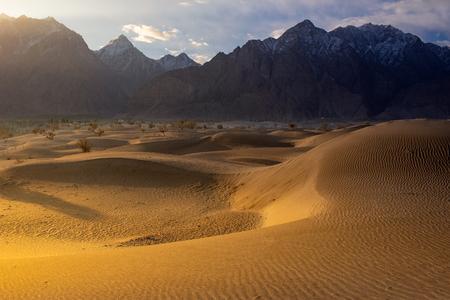 Sand desert at skardu. Northern Area Pakistan Banco de Imagens