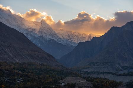 Autumn at Hunza Valley. Northern Area Pakistan