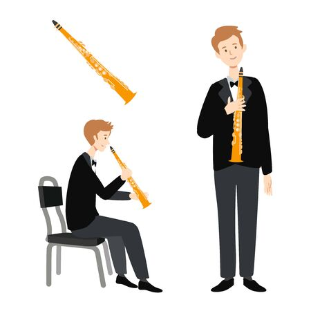 A flat illustration of isolated a caucasian man player on white background. Vector illustration. 스톡 콘텐츠 - 133495045