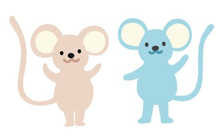 Illustration of mouses. Animal flat illustration. Vector. Ilustração