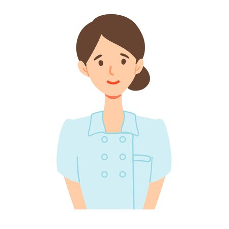 Illustration of a young nurse smiling at the bust up angle. Imagens - 140242037