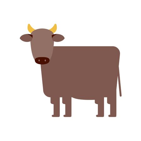 Vector illustration of ox, cow. Graphics for Chinese and Japanese new year 2021. The ox is the oriental zodiac of 2021. Lunar new year, Seollal. Çizim