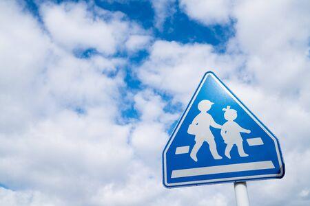 Borden van schoolwegen in Japan
