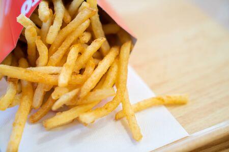 Foto de deliciosas papas fritas