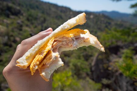 Pictures of handmade sandwiches to eat outdoors Stok Fotoğraf