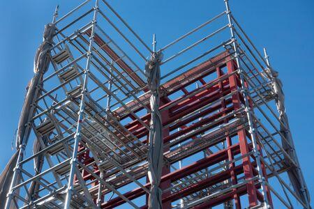 Afbeelding van bouwplaats en steiger