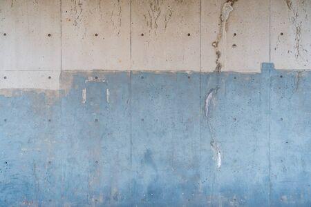 Photograph of concrete wall outside