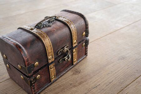A picture of the treasure chest used in the event. Stok Fotoğraf