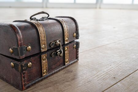 A picture of the treasure chest used in the event. Stock Photo