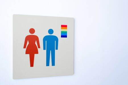 Public toilet mark for LGBT people 写真素材 - 131074131