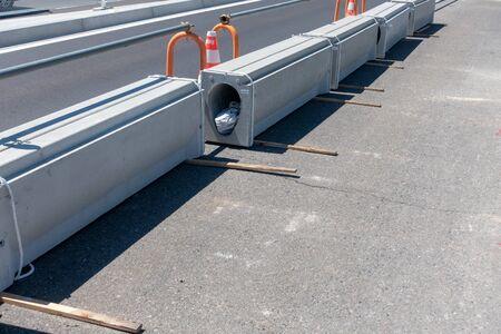 Image photograph of road construction Stok Fotoğraf
