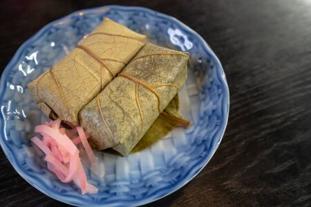 Sushi named Kakinoha Sushi in Japan