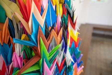 Photo of a thousand cranes