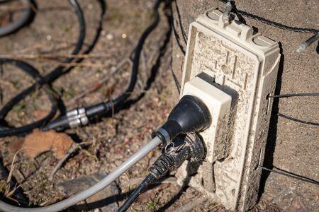 Photo of an outdoor outlet Stok Fotoğraf