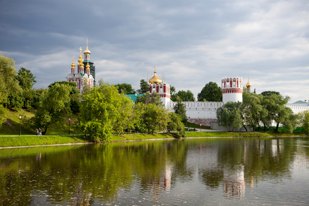 Russian Orthodox Churches in Novodevichy convent, Moscow, Russia, list of world heritage of UNESCO