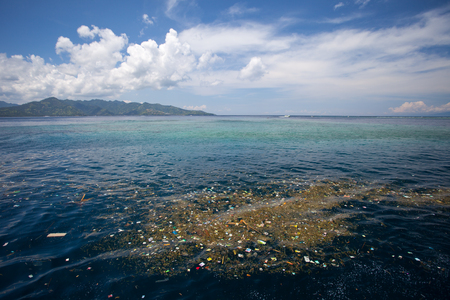 The sea of floating debris, the problems of nature and environment