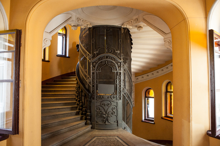 The old Elevator in the entrance of a house