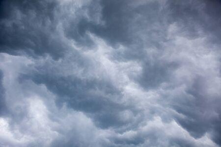 gloom: Overcast sky before storm and a hurricane
