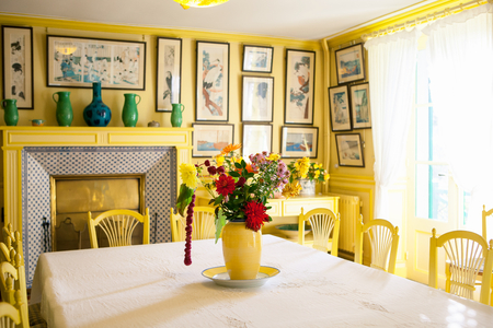 Giverny, France   20 Oct 2016: Inside The Home Of French Impressionist  Painter Claude