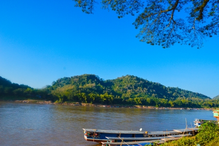 mekong: mekong river laos Stock Photo